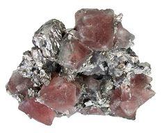 Pink Fluorite on Arsenopyrite from China