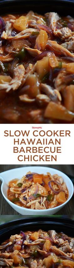 Replace your mundane pulled chicken recipe with our Slow Cooker Hawaiian Barbecue Chicken! It is a perfect mix of spice from jalapeno, sweet from pineapple, and tang from barbecue sauce. Sooo Good!!! :)