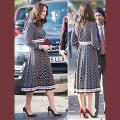 "310 Likes, 2 Comments - Kate's Closet (@katescloset.com.au) on Instagram: ""Duchess dons diamond-print Kate Spade New York dress for visit to the Foundling Museum. Head to the…"""