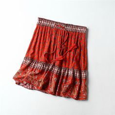 Vintage chic hippie floral printed tassel beach skirt - Power Day Sale#womenbottoms #Bottomswear #Jeans #Leggings #Skirts #Shorts #Pants #Plazzo #Denims Red Fashion, Boho Fashion, Vintage Fashion, Vintage Style, Winter Fashion, Hippie Outfits, Chic Outfits, Fashion Outfits, Vintage Dresses