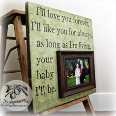 Father Of The Bride Picture Frame Custom Wedding Gift Personalized 16x16 LOVE YOU FOREVER Mother Of The Bride Parents Dad Men Gift. $75.00, via Etsy.