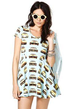 Joyrich Gold Tranz Skater Dress
