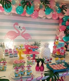 Party Decorations Lights Balloons Ideas For 2019 Flamingo Party, Flamingo Baby Shower, Flamingo Birthday, Hawaiian Birthday, Luau Birthday, Birthday Party Themes, Birthday Ideas, Aloha Party, Luau Party