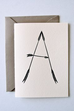 Arrow Caps - Set of 8 Letterpress Note Cards $18 by inhauspress on etsy (for Thank You's!)