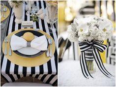 Black And White Wedding Ideas - California Weddings At: http://www.FresnoWeddings.Net/