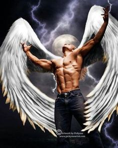 💗BORRA💗 Real Guardian Angels don't need a jet to fly with. They Only needs to spread their WINGS💞👼 Dark Angels, Fallen Angels, Male Fallen Angel, Angels Among Us, Angels And Demons, Fantasy Kunst, Fantasy Art, Art Masculin, Angel Man