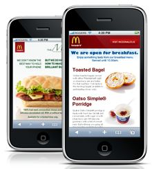 you can create a simple mobile landing page or mobile website for a small business, restaurant, and marketing campaign
