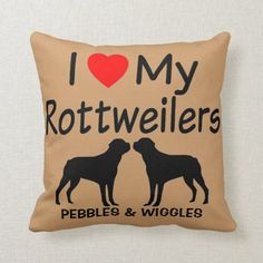 Rottweiler Mix Puppies, Rottweiler Quotes, Rottweiler Funny, Custom Pillows, Decorative Throw Pillows, Rottweiler Training, Dog Throw, Dog Silhouette, Labrador Retriever Dog