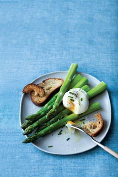 my favorite meal Poached Eggs over Asparagus Recipe | Vegetarian Times