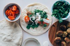 Falafel Wraps with Tahini Yoghurt Sauce - erin made this-22
