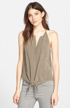 Joie 'Dashiell' Tie Front Silk Top