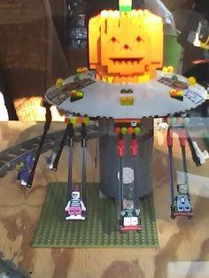 lego Halloween monster swing Lego Halloween, Poker Table, Dining Table, Tutorials, Home Decor, Dining Room Table, Decoration Home, Poker Table Top, Room Decor