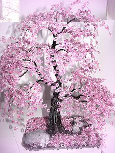 Bonsai Beaded Tree Home Decor - Sakura   Flickr - Photo Sharing!