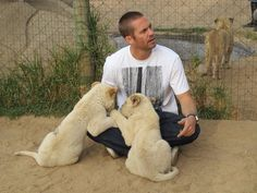 Walker with lion cubs ;)