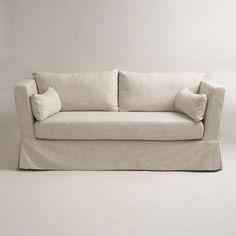 Seating - Linen Crosby Sofa Slipcover   World Market - linen, crosby, sofa, slipcover