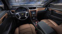 Chevrolet Traverse 2015 cuenta con asientos delanteros con ajuste eléctrico y calefacción