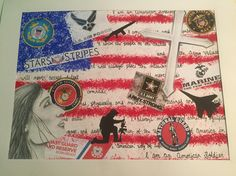 Patriotic project with mixed media