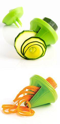 """Green vegetable decorative spiral slicer - great for veggie """"noodles"""" and salads #product_design"""