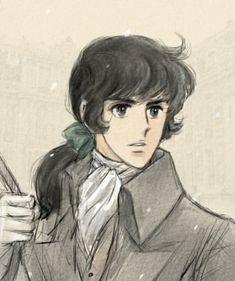 Giovane André sotto la neve