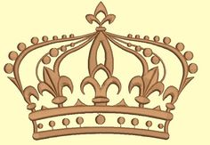 crown embroidery design -   165*122 mm / 11700 stc - design tested