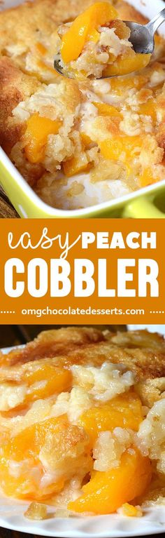What could be a more perfect ending to a summertime meal than easy peach cobbler? Savor the flavors of summer with sliced fresh peaches cooking away with butter and spices.