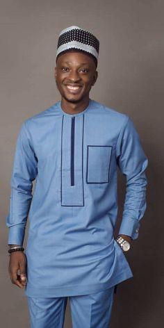 Bako African men shirt with matching pant Men clothing Men African Wear Styles For Men, African Shirts For Men, Ankara Styles For Men, African Dresses Men, African Attire For Men, African Clothing For Men, Latest African Fashion Dresses, African Men Fashion, African Style
