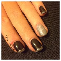 Blackpool and holographic shellac nails