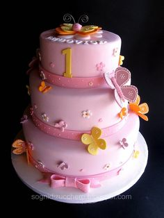Butterfly cake - cute design and bow