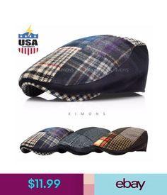 fe66042cfc0 Hats Em Patch Plaid Ivy Hat Wool Herringbone Gatsby Cap Golf Driving  Cabbiesboy  ebay  Fashion