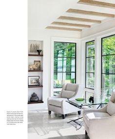 Dark shelves in Karen Gentile's Lake Geneva Home in Luxe