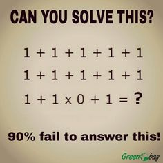 Can you #solve this? #maththursday