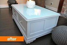 Before & After: Ellen's Bad Stain to Bright Coffee Table