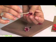Susan Tierney-Cockburn from Susan's Garden - How to Use Sizzix Thinlits Gerbera Daisy Die - YouTube time 7:23; June 17, 2013 - NTS: this is part of a series on Susan's flowers