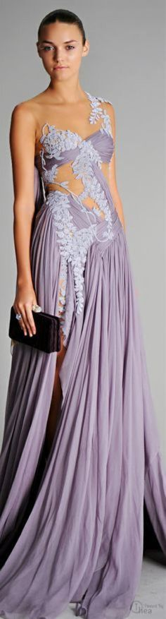 lavender evening gown by Marchesa lavender