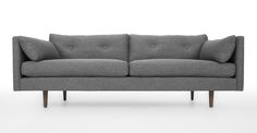 "Living room - 82"" - $1149 - Anton Gravel Gray Sofa - Sofas & Ottomans - Bryght | Modern, Mid-Century and Scandinavian Furniture"