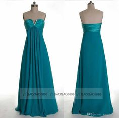 New Chiffon Bridesmaid Dresses Teal Green Real Image Cheap A Line Sweetheart Maid of Honor Bridal Party Gowns Plus Size 2015 Online with $73.51/Piece on Gaogao8899's Store | DHgate.com