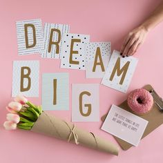 Dream Big with our Lovely Letters. Foto: @tamara_st