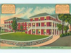 Unused Linen Warren Green Hotel Restaurant Waron Virginia Va