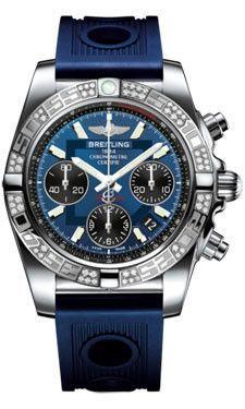 Breitling Chronomat 41 Steel Diamond Bezel Ocean Racer Strap AB0140AA/C830