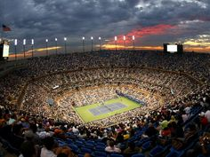Arthur Ashe Stadium, Billie Jean King National Tennis Center, Flushing Meadows, New York. Home of the U.S. Open