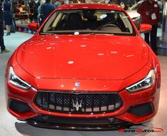 Maserati Ghibli III (M157, facelift 2017) #redmaserati #maseratighibli