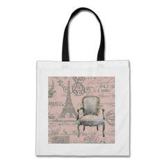 Chic Vintage Floral Paris Eiffel Tower Bags #pink