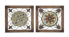 Wall Sculptures 166729: Attractive Metal Wood Wall Plaque 2 Assorted-51053 -> BUY IT NOW ONLY: $66.41 on eBay!