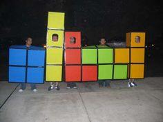 diy halloween . group costumes - Tetris