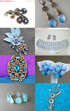 Beautiful Blue Jewels To Cool You Off From The Heat! From VJSE Group Team-- Pinned with TreasuryPin.com