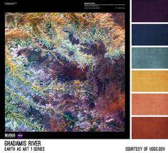 Ghadamis River Palette - inspired by the Earth As Art photos from the USGS, created by Brandi Hussey (www.brandigirlblog.com) for the 3rd Annual Challenge of Color (http://treasures-found.blogspot.com)