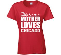 This Mother Loves Chicago Hockey Mothers Day Fan T Shirt