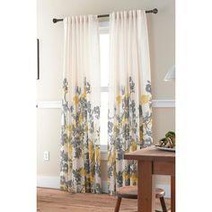"Threshold™ Climbing Vine Curtain Panel - Yellow (54x95"") : Target"