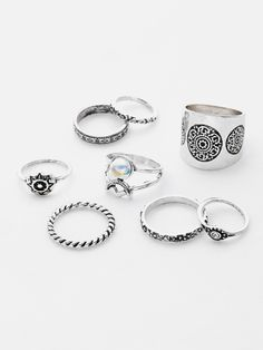Shop Faux Pearl Multi Shaped Ring Pack online. SheIn offers Faux Pearl Multi Shaped Ring Pack & more to fit your fashionable needs.