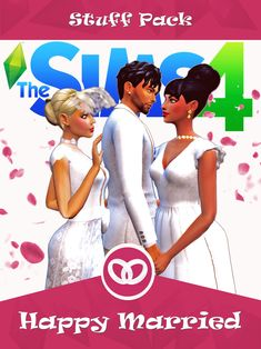 New Happy Married fan art pack. It is compatible with base game and it contains 27 elements from dresses in all colors shoes hairs jewelry or accesories. Hope you enjoy. Sims Four, The Sims 4 Pc, Sims 1, Sims 4 Mods, Sims 4 Game Mods, Die Sims 4 Packs, Sims 4 Game Packs, Fan Art, Sims 4 Expansions